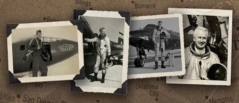 Four 50s/60s era test pilots